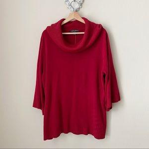 NWT Designers Originals red cowlneck sweater